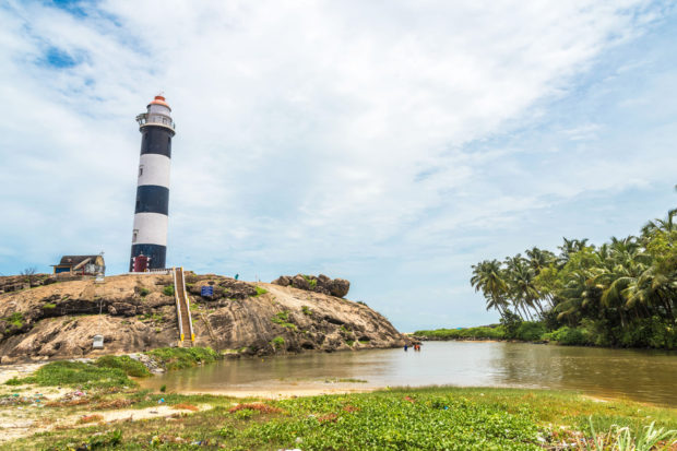 light house at kaup beach, free indian stock photos