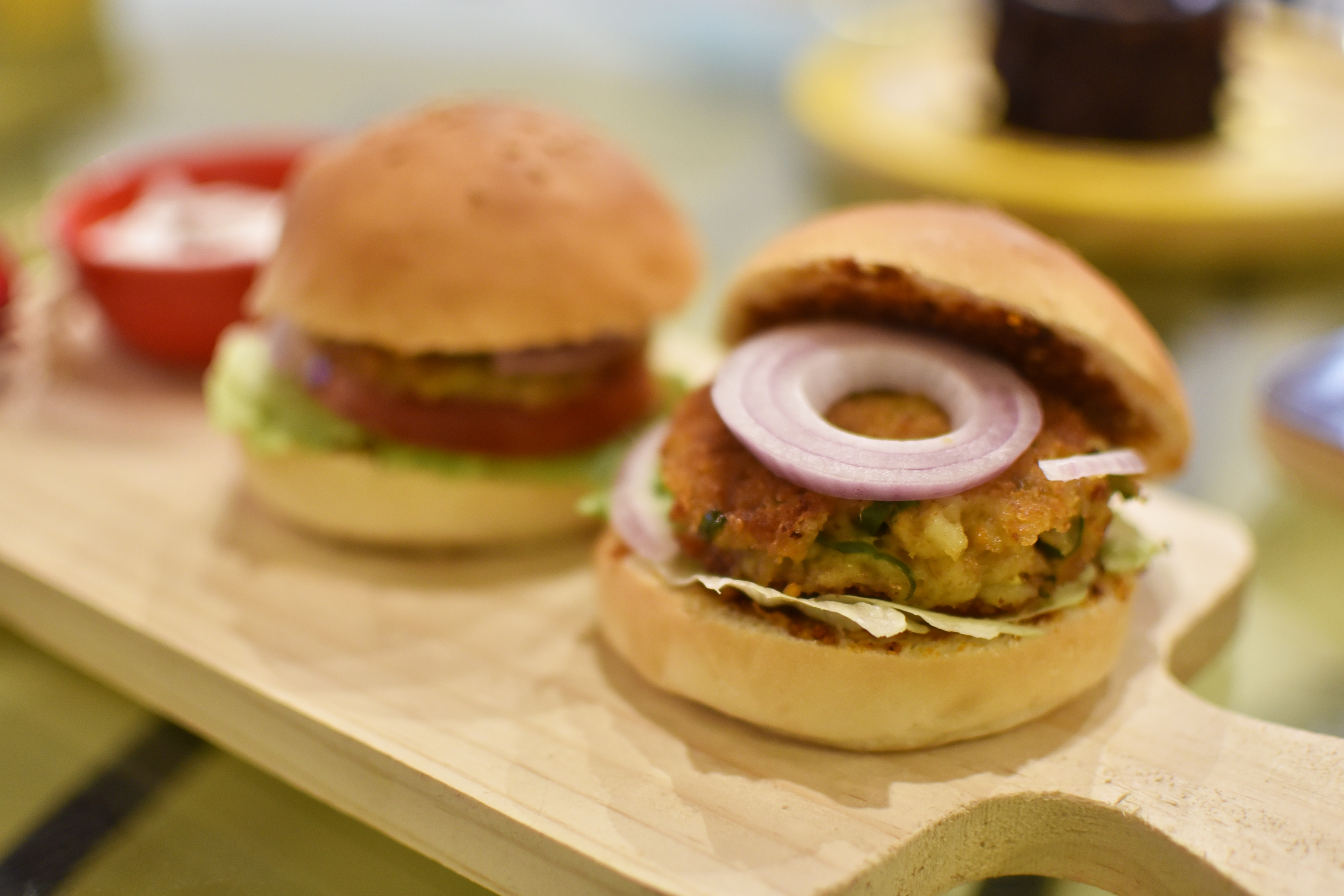 veg burger, free indian stock photos