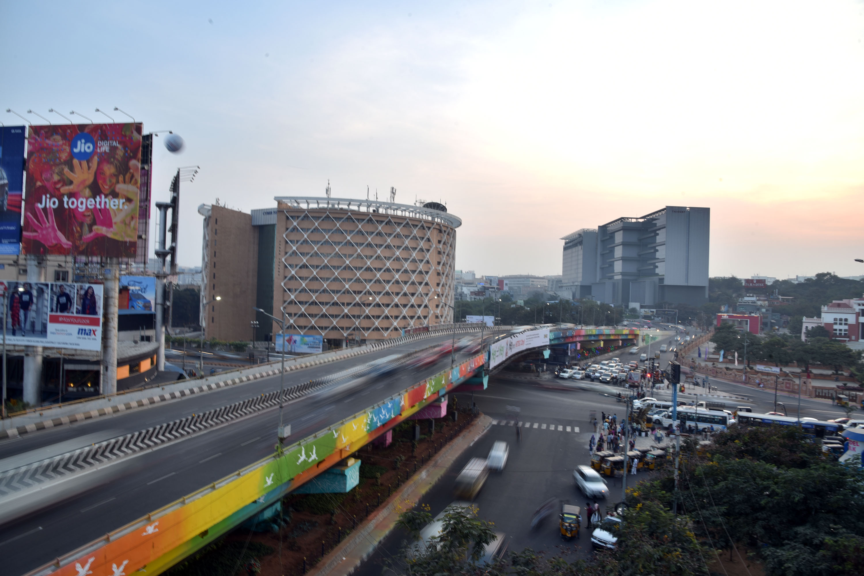 cyber towers, hitech city, hyderabad, free indian travel and stock photos