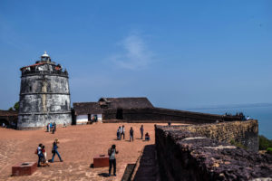 agonda fort goa, free indian travel and stock photos