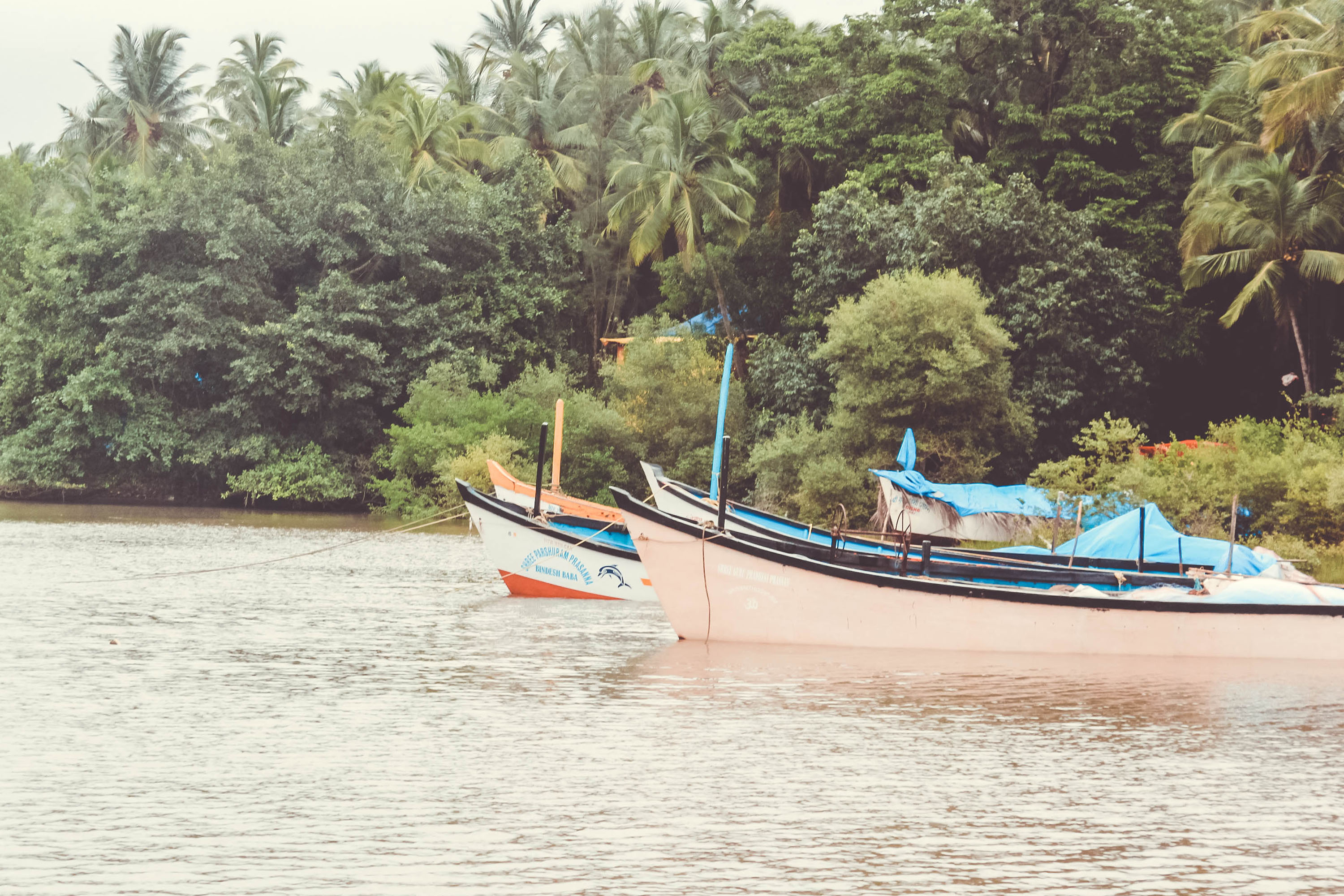 goa, boats, free indian travel and stock photos