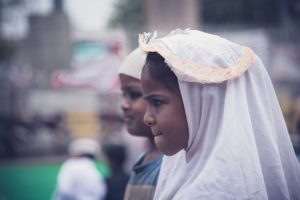 children in eid at charminar, indian travel and stock photos