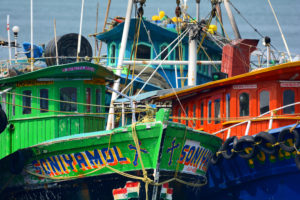 colorful boats, free indian travel and stock photos
