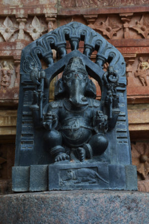 Ganesh idol at ramappa temple, indian travel and stock photos