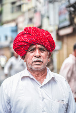 Gujarathi man on street, indian travel and stock photos