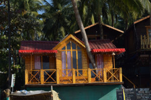 huts at arambol beach, beach houses,free indian stock photos