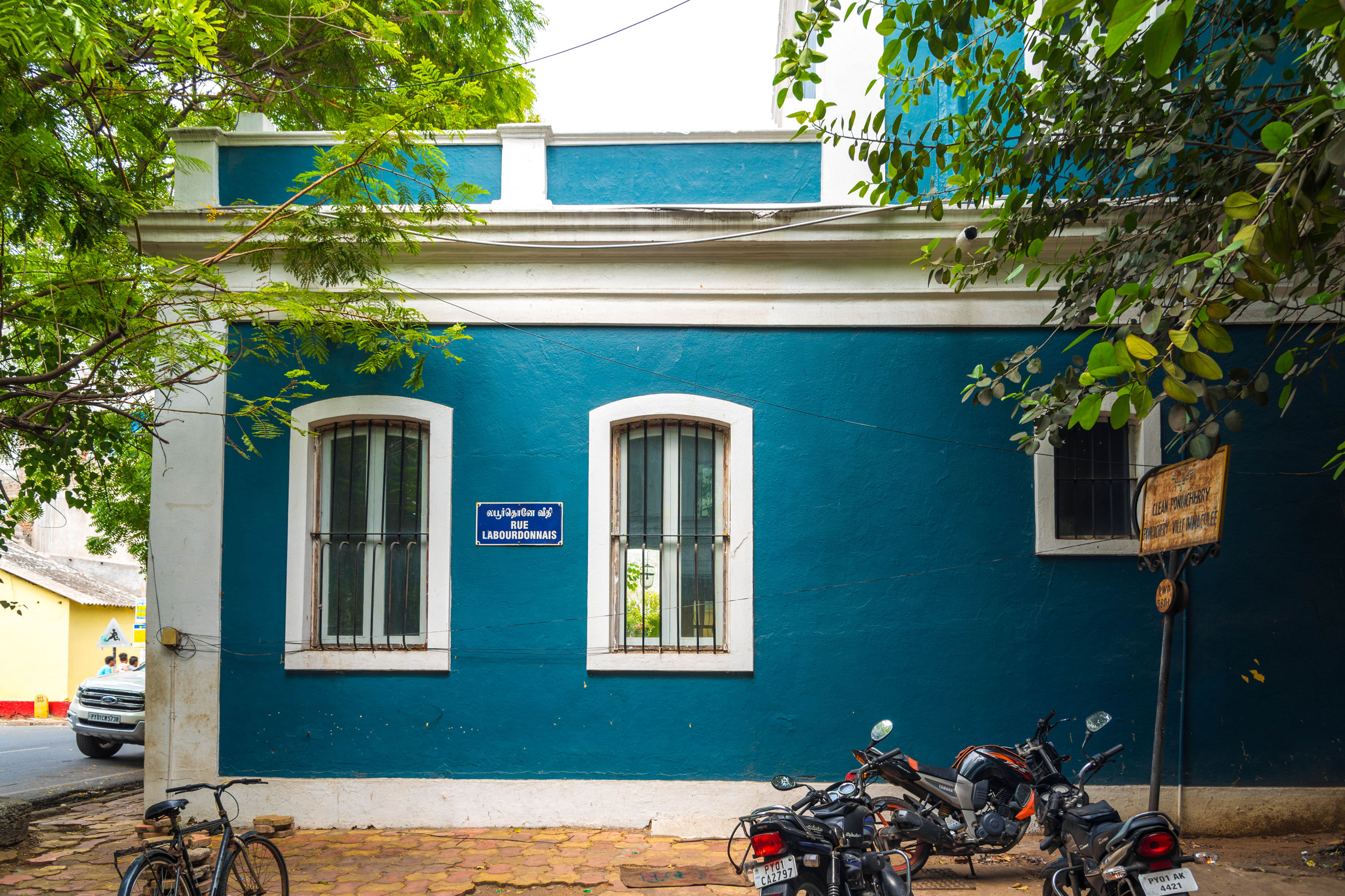 pondicherry french quarter architecture, download free indian travel and stock photos