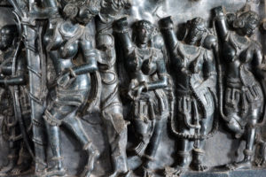 sculptures at ramappa temple, warangal, free indian travel and stock photos