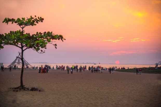 sunset at goa beach, download free indan stock photos