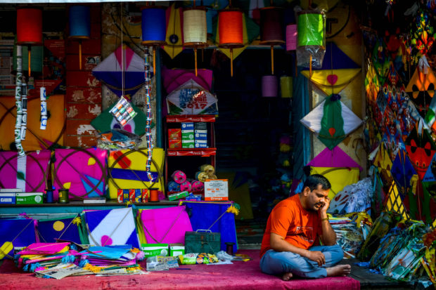 Kites Shop in Old City of Hyderabad, free indian photos